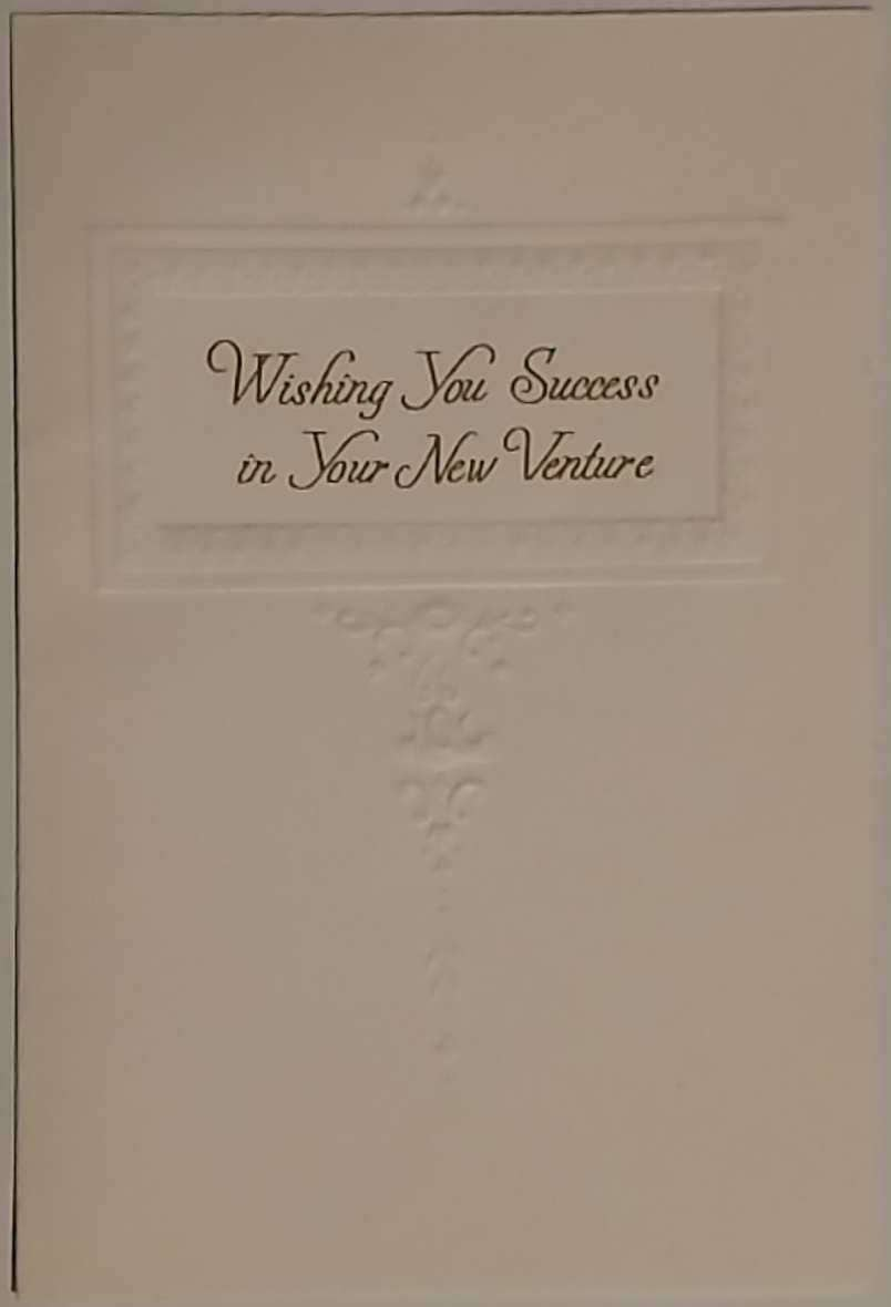 Vintage Hallmark Cards Inc Wishing You Success In Your New