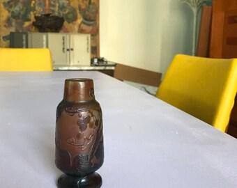 Vase original emile galle, nancy glass