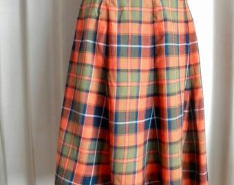Vintage Plaid Skirt