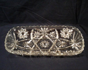 Vintage Anchor Hocking Prescut Asparagus Serving Tray