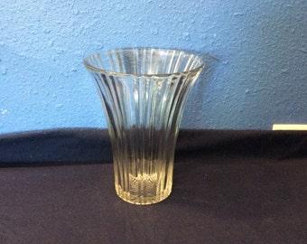 Vintage Anchor Hocking Old Cafe Vase