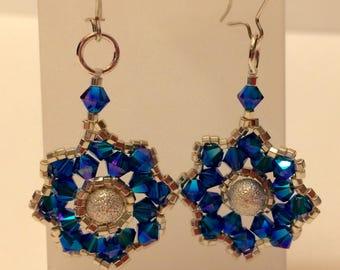 Sparkling Blue Earrings