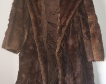 Gorgeous vintage mink fur and MINK FUR HAT-good condition-great for her real gift elegant 80 years