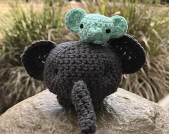 Handmade Crocheted Elephant Plushie