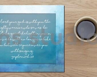 "Zephaniah 3:17 Digital Print 8""x10"""