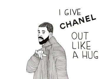 Drake Child's Play lyric / Chanel illustration