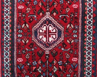 151 x 56cm (4,9 x 1,3 ft) Abadeh, vintage carpet, Persian rug, hand made oriental rug, hand knotted, old, wool.