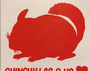 Chinchilla Decal, Stick On