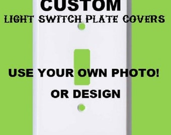 Custom Light Switch Plate Cover Use your own Photo!