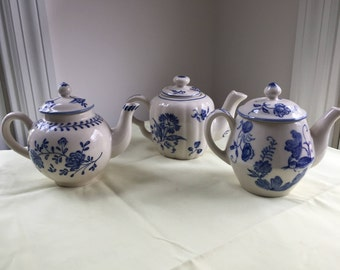 Three Vintage Andrea by Sadek Williamsburg Teapots