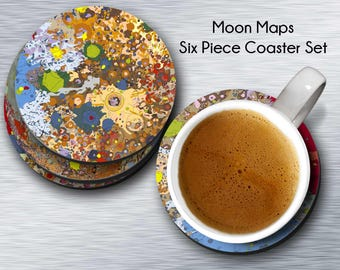 Moon Geology, Geology Coasters, Geology Moon, Moon Coasters, Round Coasters, Round Moon, Moon Round, Coasters Round, Moon Set, Coaster Set