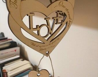 Personalized Decorative hearts