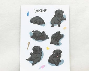 MATTE | Gimme Pugs! Cute Pug Stickers
