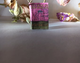 The War of The Worlds- Miniature Book Charm Necklace