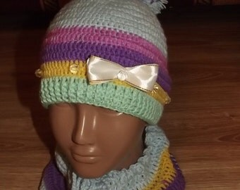 baby hat and scarve