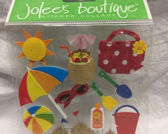 Jolee's Boutique Beach Stickers, Sand Castle Sticker