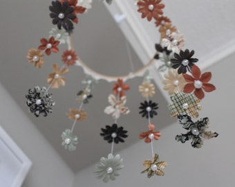 Flowers and Pearls Mobile