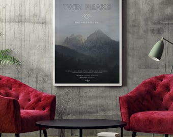 Twin Peaks TV Poster Art Print, TV Poster, Wall Art, Twin Peaks Poster, David Lynch Poster