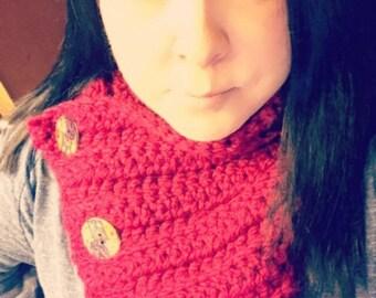 Handmade Crochet 3 Button scarf