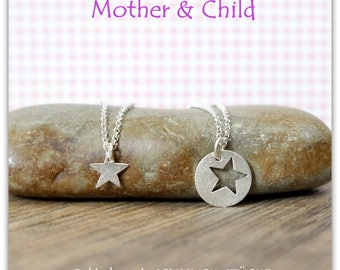 Mother & daughter jewelry set - star - handmade of 925 Silver