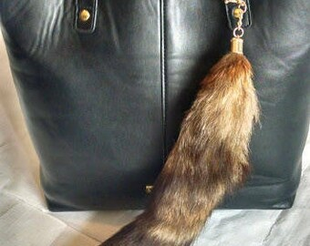 Fox Tail Keychain Pendant Fox Tail all Natural Fox Tail Keyring Charm