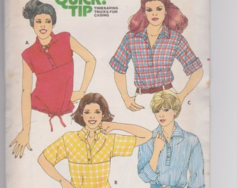 Butterick 5934 / Misses' Top / Size 16 / 70's Vintage Sewing Pattern