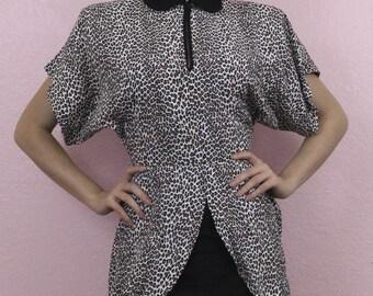 Amazing 80's Leopard Print Dress