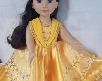 Beauty and the Beast Movie, Girls sizes 3 - 14, Princess Belle Dress, 2017 Princess Belle Ball Gown, Disney Vacation Dress