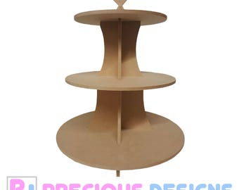 3 tier mdf cake stand, wedding gift craft diy party love heart