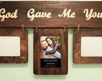 God Gave Me You Wooden Collage Frame