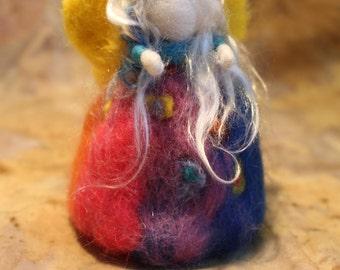 Waldorf inspired needle felt faerie -Faye
