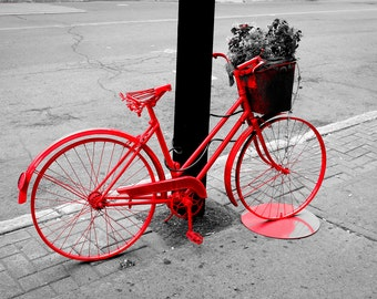 Red Bike Photography, Digital download, 8x10in(20x25cm)300dpi