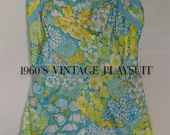 1960S VINTAGE DESIGNER PLAYSUIT