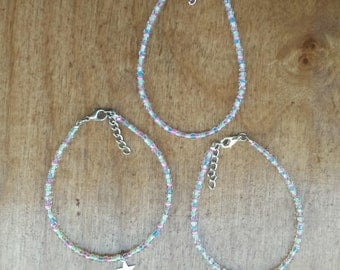 Unicorn single layer seed bead bracelet