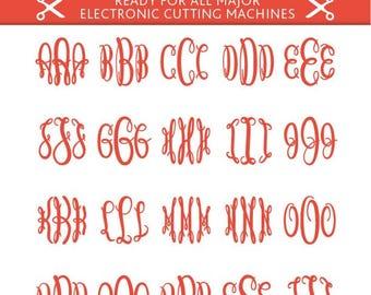 Keepsake Monogram Svg Keepsake Monogram Font Keepsake Font Svg Cut Files Silhouette Studio Cricut Svg Dxf Jpg Png Eps Pdf Ai Cdr