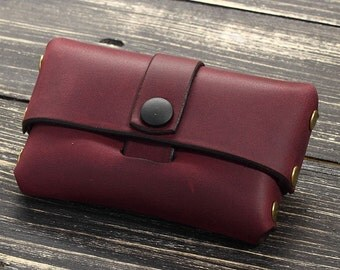 Leather Business Card Holder, Business Card Case Leather, Custom Colleague Gift, Gifts for Husband Personalized, Custom Gift for Boyfriend