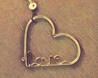 Silver plate wire heart
