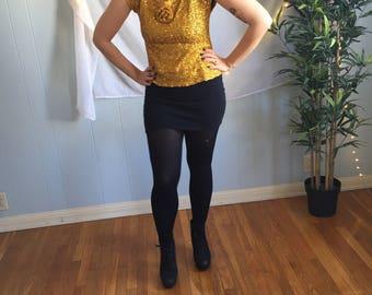 Vintage Gold sequin Disco Blouse