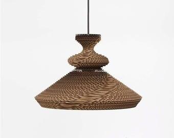 Morocco. Corrugated cardboard lamp