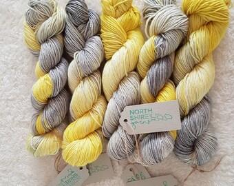 Rachael. Hand dyed SW BFL / Silk DK yarn