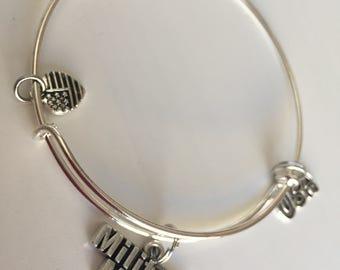 Military Mom charm bracelet