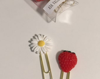 Strawberry and Daisy Paperclips