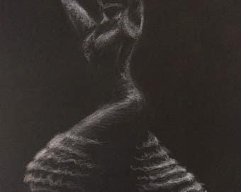 Minimalist Flamenco Dancer