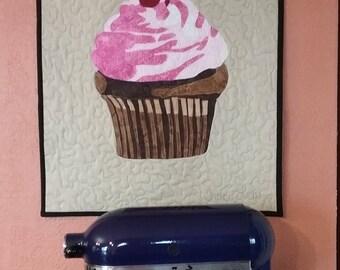 cupcake art quilt