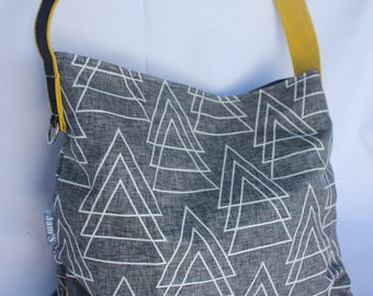 Handbag fashion, geometric eccentric rock trend, shoulder bag
