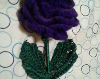 Crochet Rose (Purple)