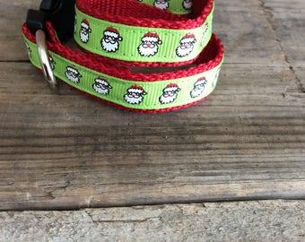 Tiny Santas Christmas Dog Collar
