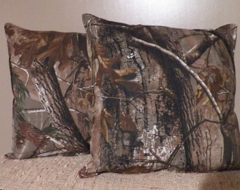 "Realtree Camo Throw Pillow Set Of 2 15""X15"""