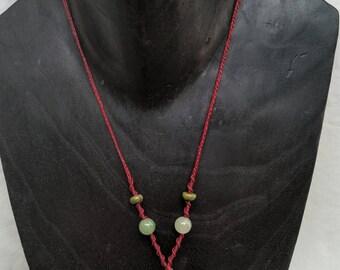 Raw Clear Quartz Macrame Necklace