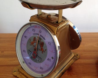 Vintage grocer double dial scale